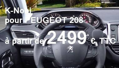 K-nobi pour Peugeot 208